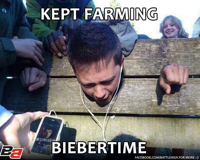 kept farming, biebertime