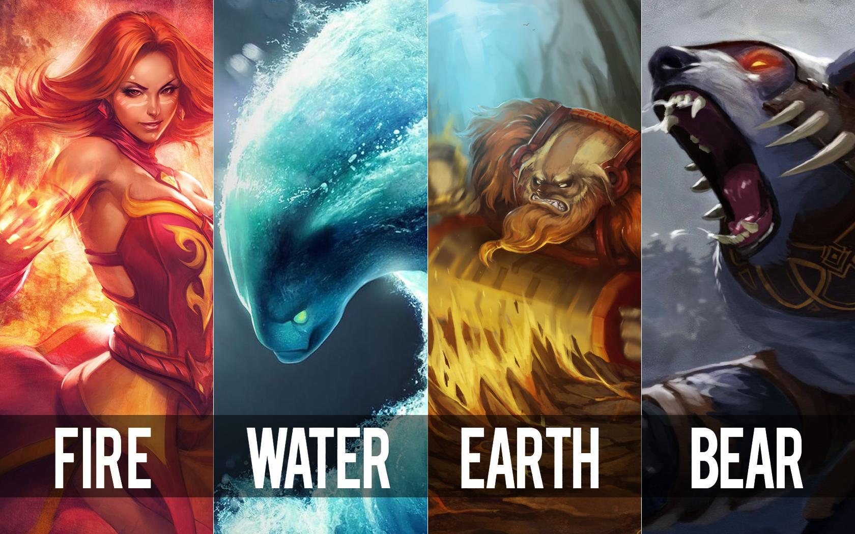 FIRE WATER EARTH BEAR!!!