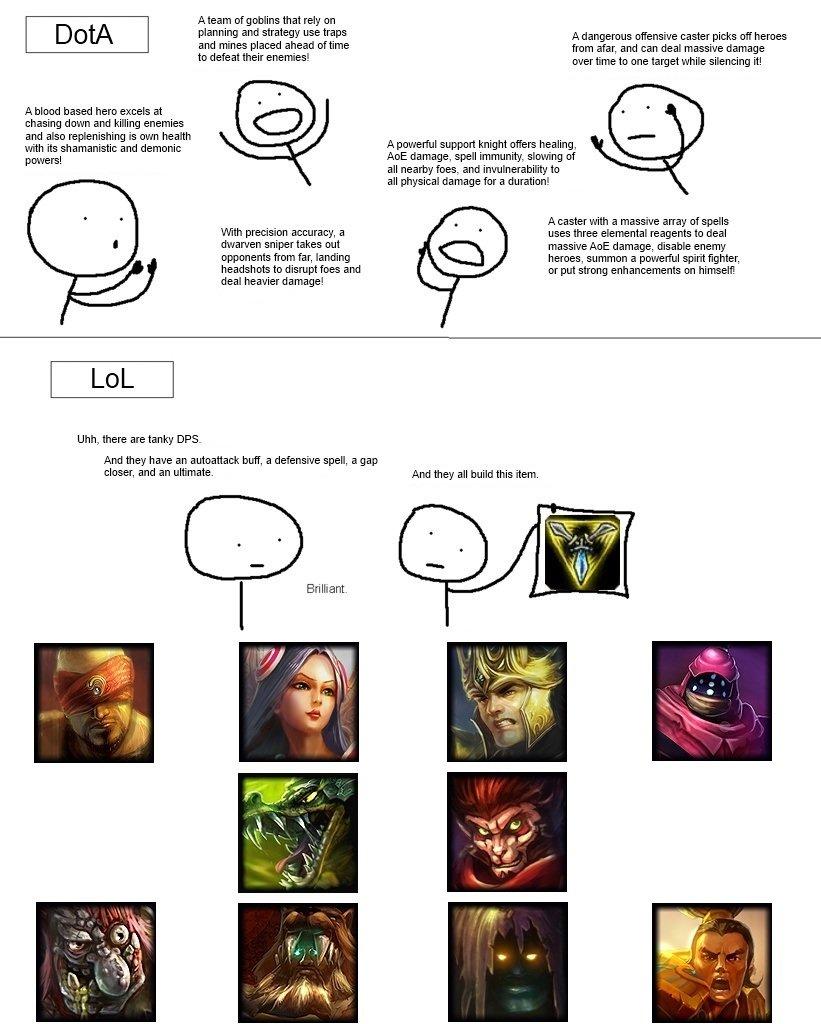 dota vs lol storytelling