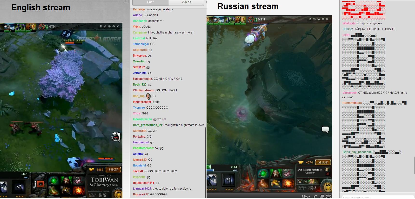 english vs russian stream